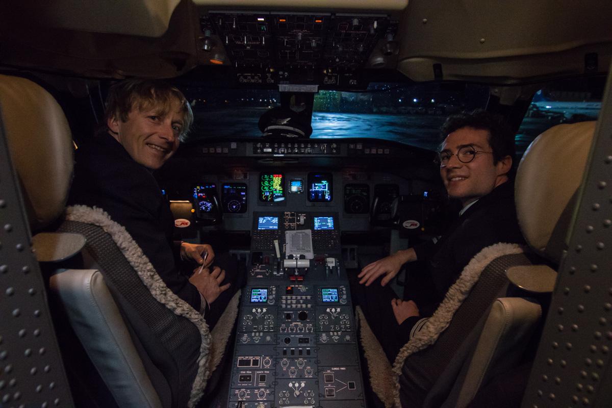 В кабине пилотов
