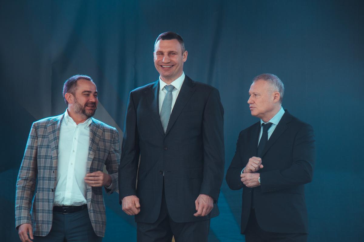 Виталий Кличко, Андрей Павелко и Григорий Суркис были рады важному спортивному событию для Киева и Украины