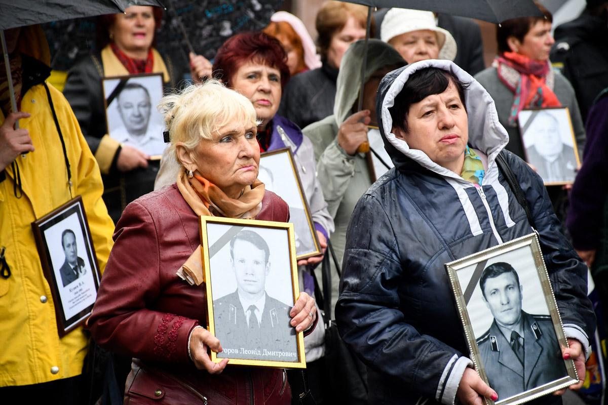 Жены погибших в результате ликвидации аварии на Чернобыльской АЭС возглавили шествие