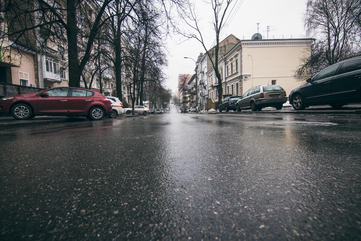 Покрытие на этой улице зиму перенесло хорошо