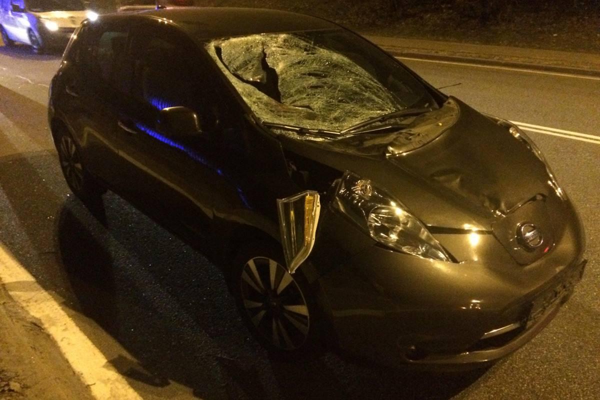 Nissan Leaf сбил 31-летнего мужчину