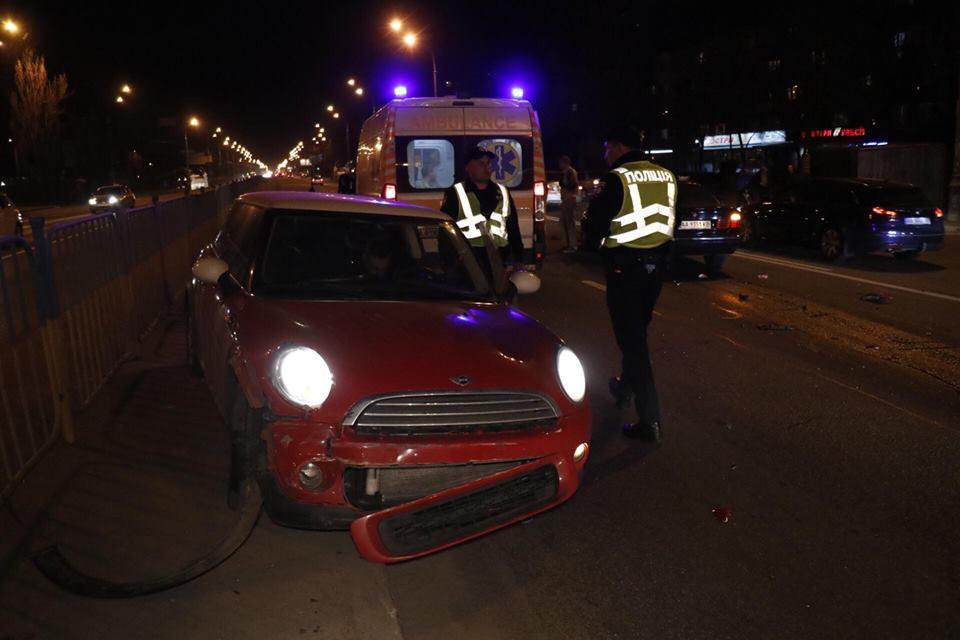 Авария случилась около 21:35