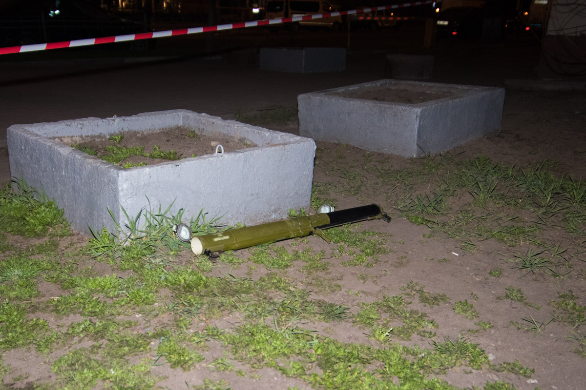 Неизвестные использовали при обстреле гранатомет