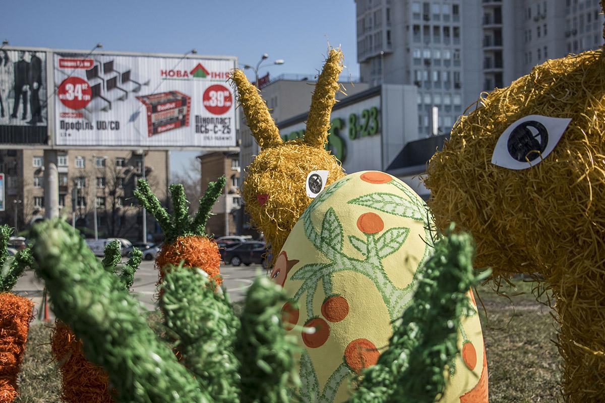 Праздничные кроли не пришлись по вкусу жителям Киева