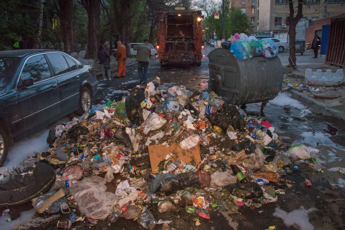 Потому отходы пришлось выбрасывать из машины