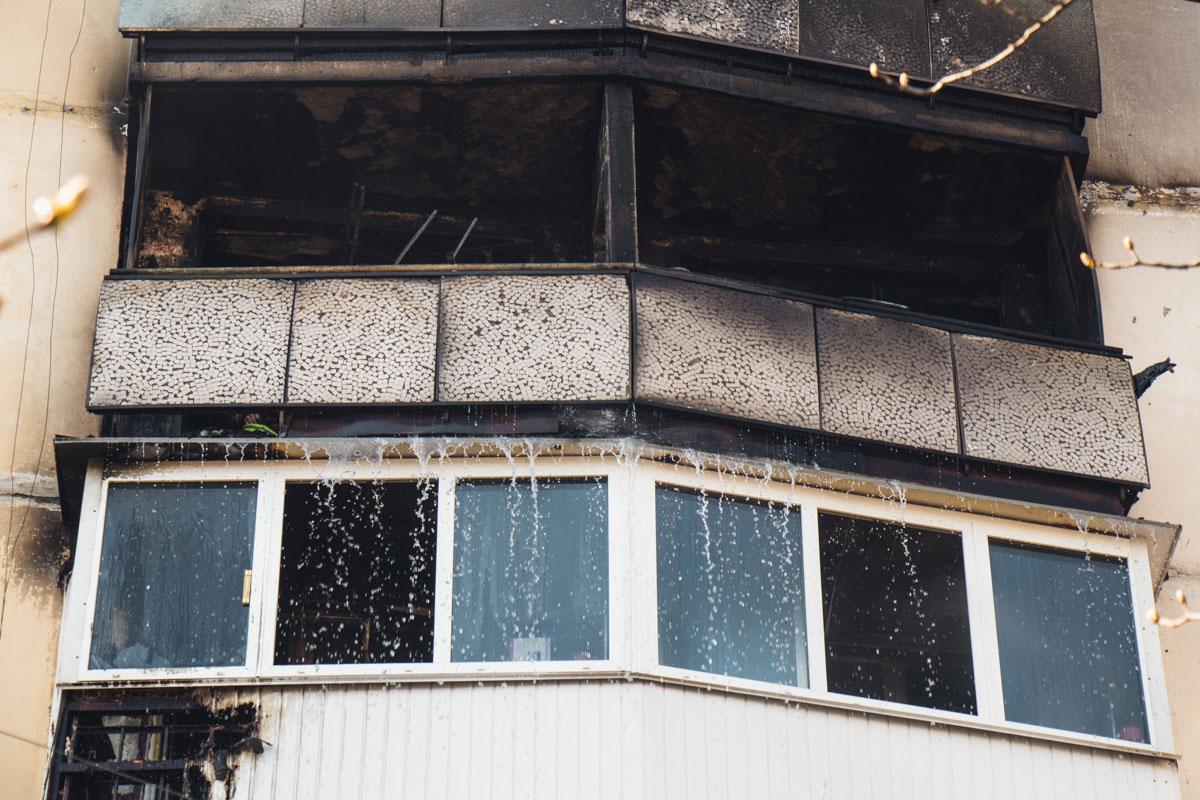 На улице Александра Малышко, 15 случился пожар