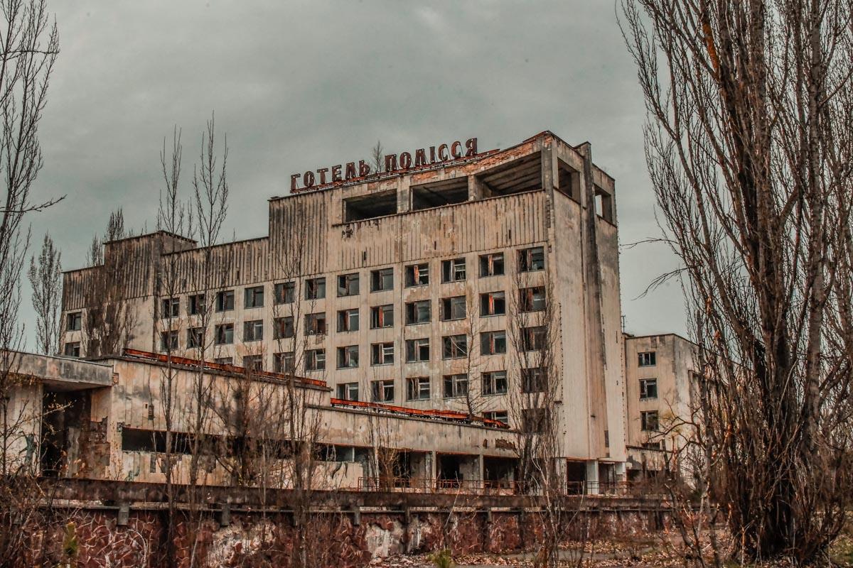 Остатки некогда роскошной гостиницы
