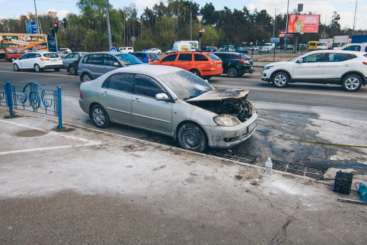 Водитель Toyota и его пассажир не пострадали