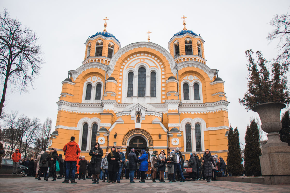 Владимирский кафедральный собор - главный храм Украинской православной церкви Киевского патриархата