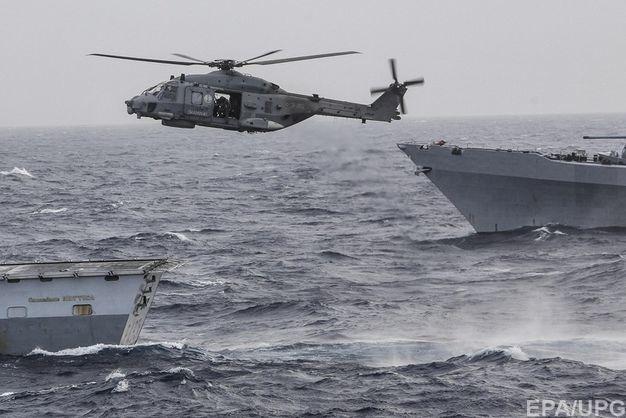 В Средиземное море рухнул вертолет, пилот погиб