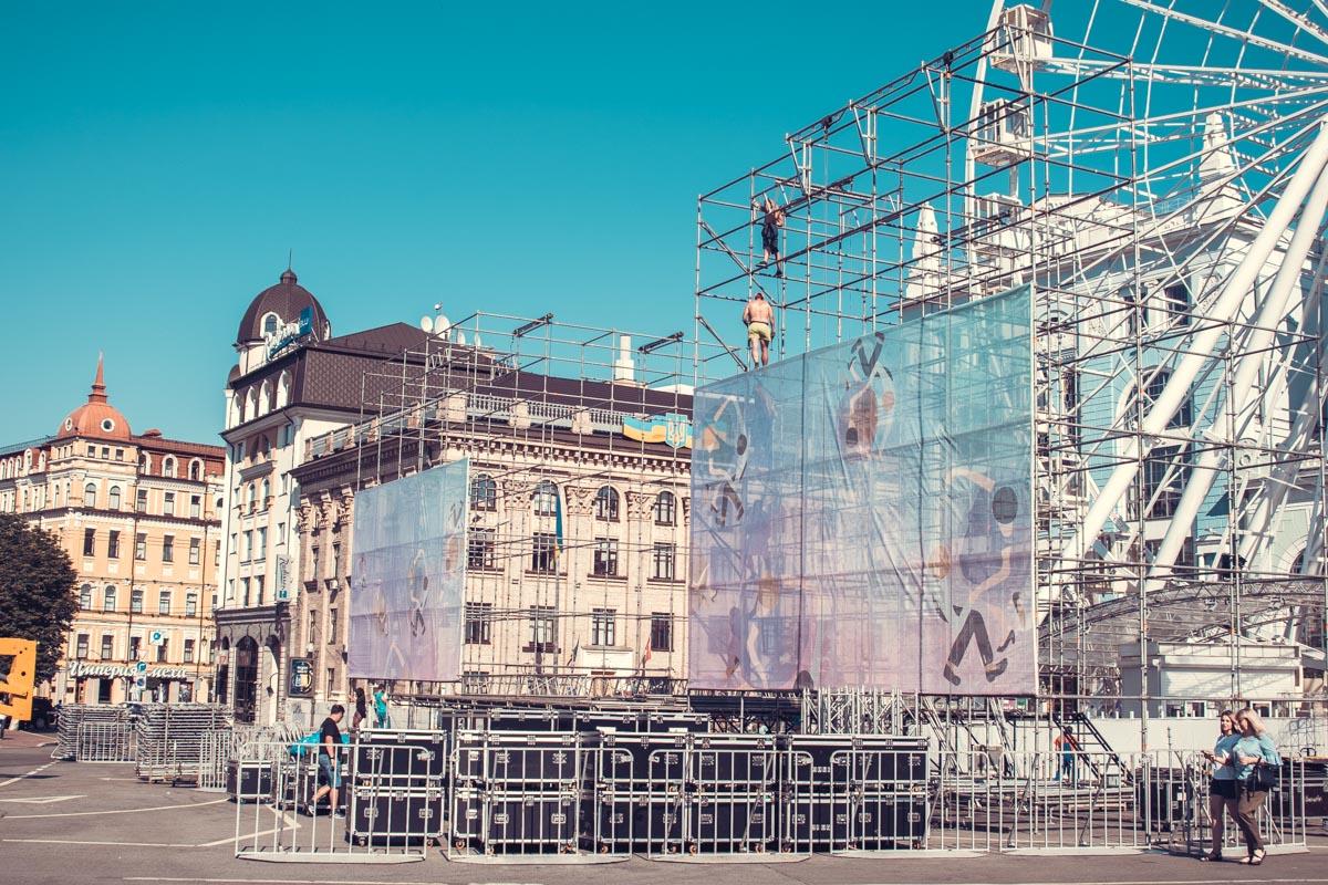 Главная сцена будет установлена на главной площади Подола