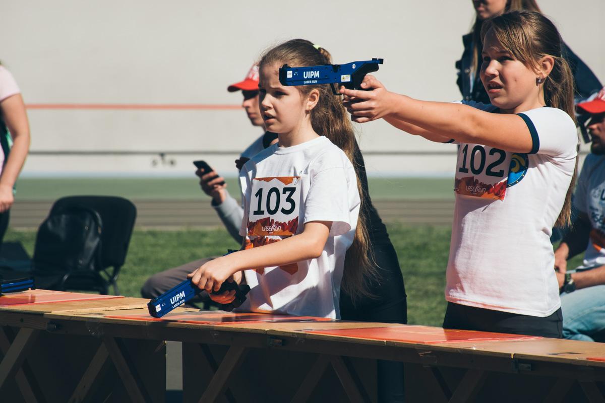 11-летняя участница забега рассказала, что занимается пятиборьем с 4-х лет