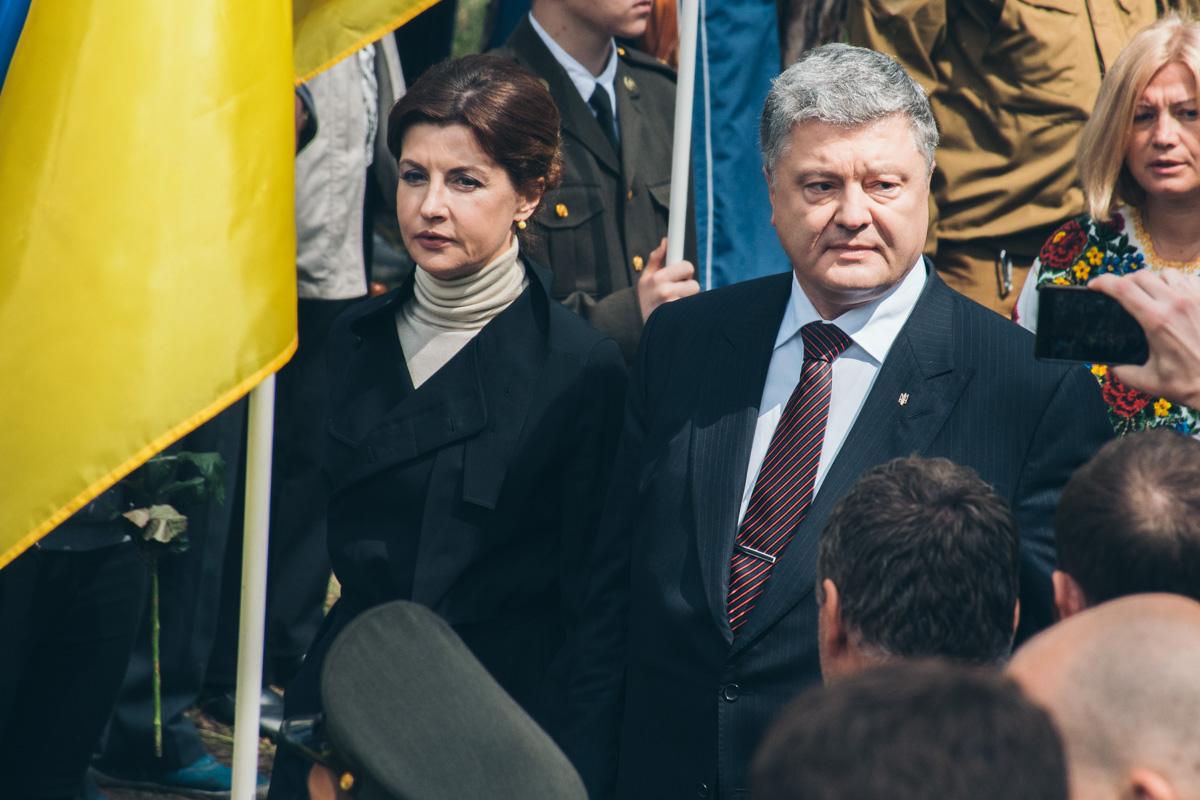 Президент Украины Петр Порошенко с женой Мариной Порошенко