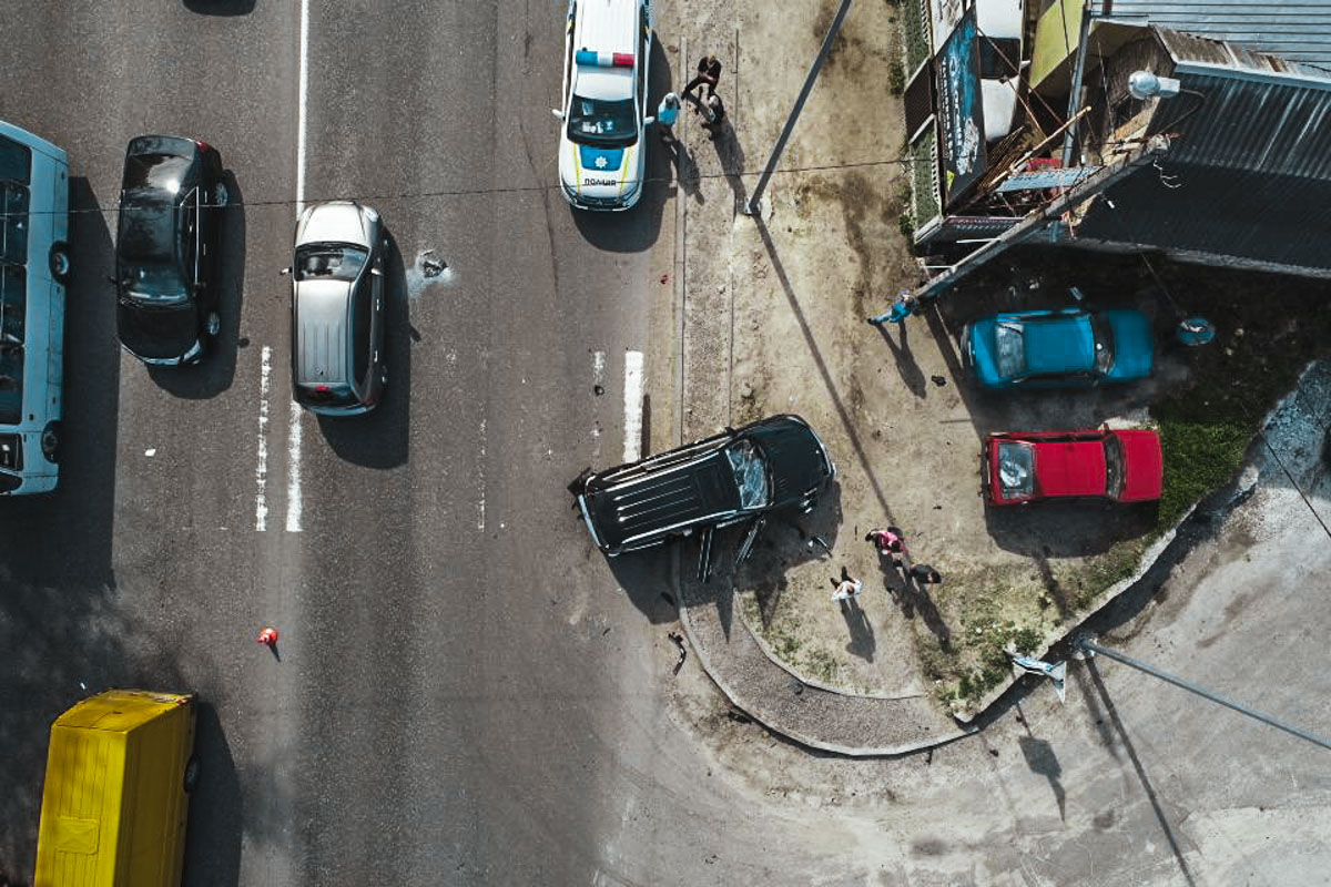 Под Киевом произошло ДТП: его виновником стал грузин на Renault Megan