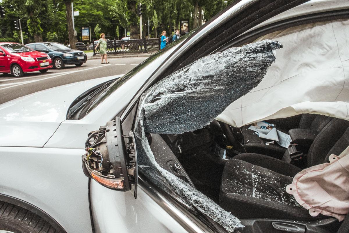 Драйвер Volkswagen не пострадал