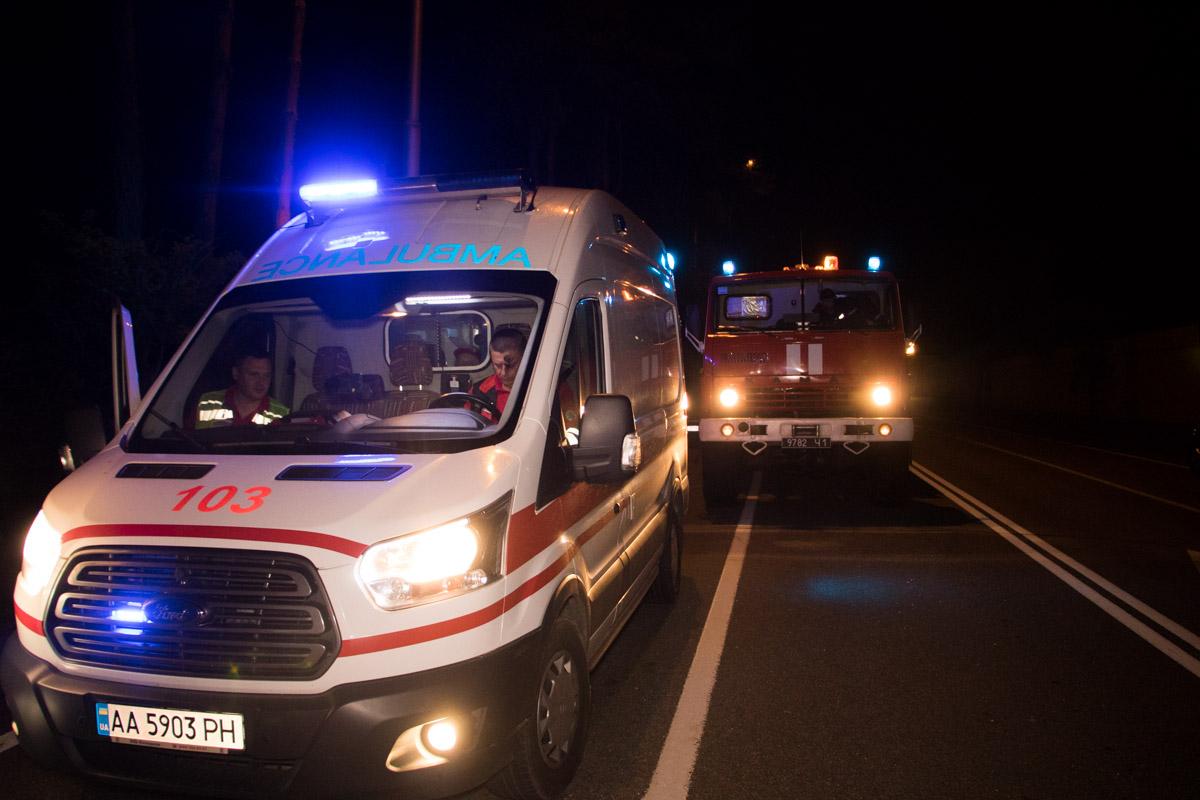 На месте работали спасатели, скорая помощь и патрульная полиция