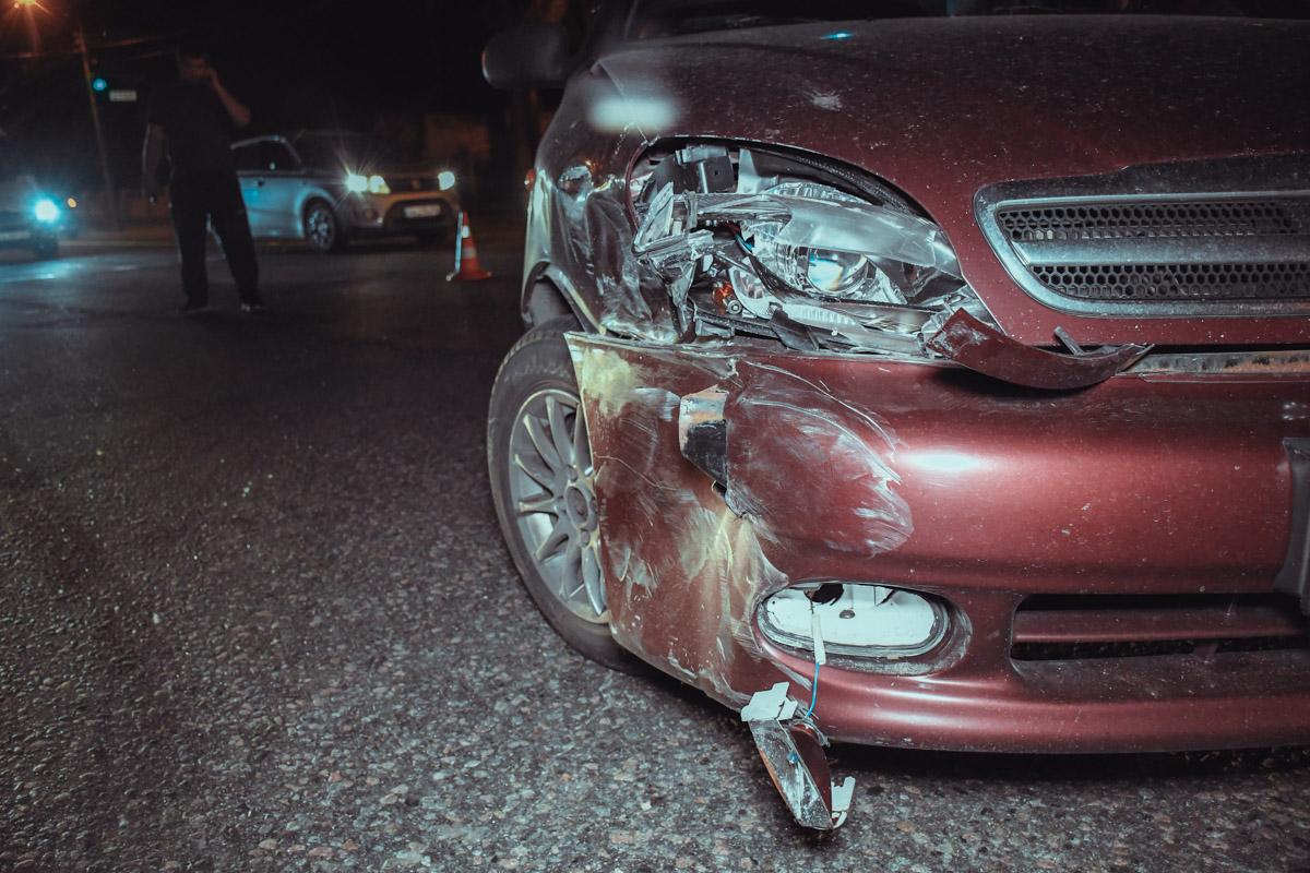 ЗАЗ отделался незначительными повреждениями