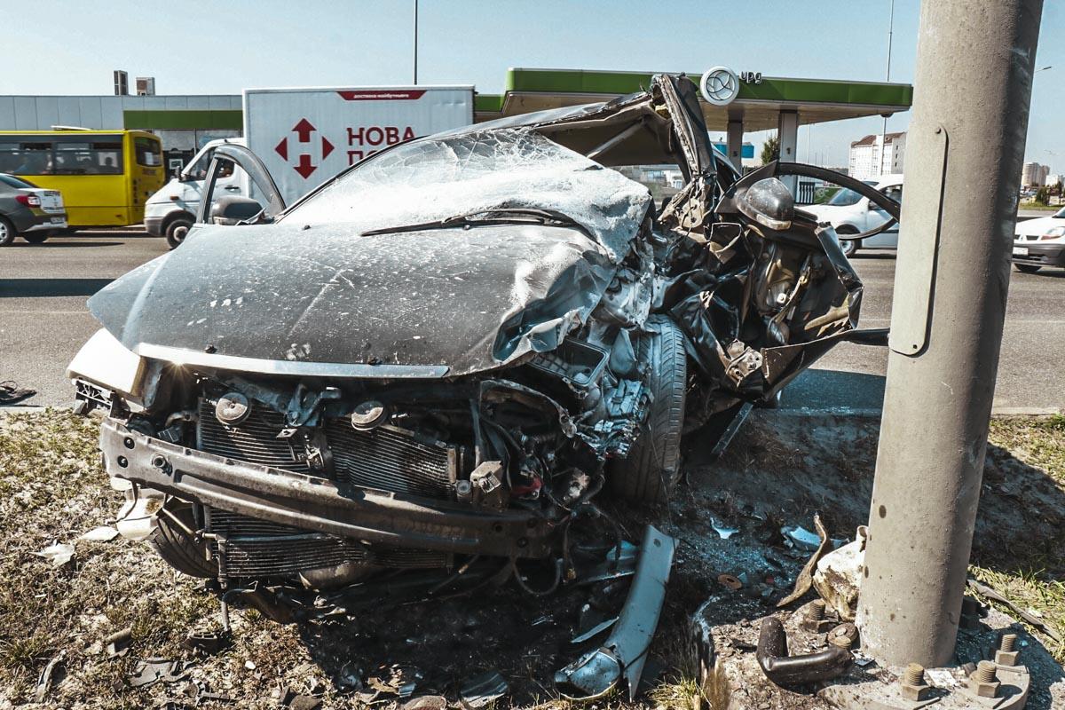Авария произошла перед Жулянским мостом