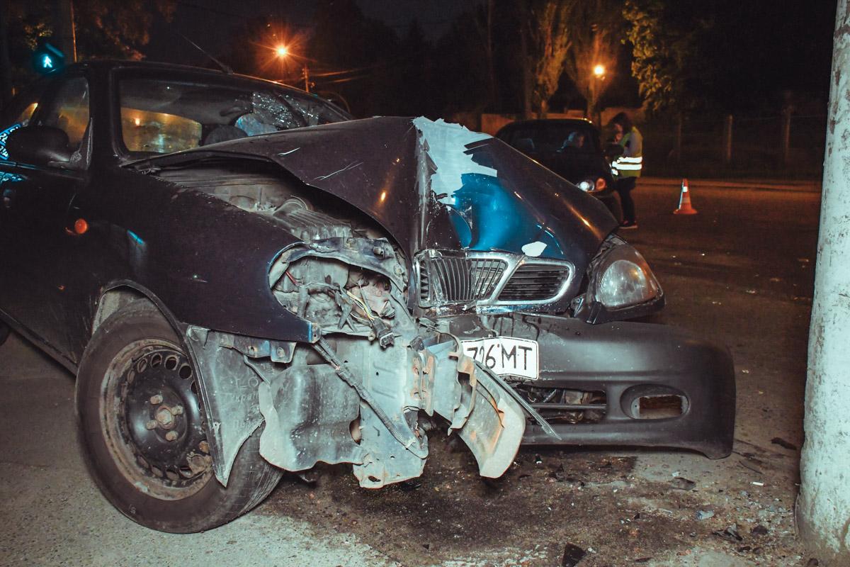 У водителя травмы головы и руки