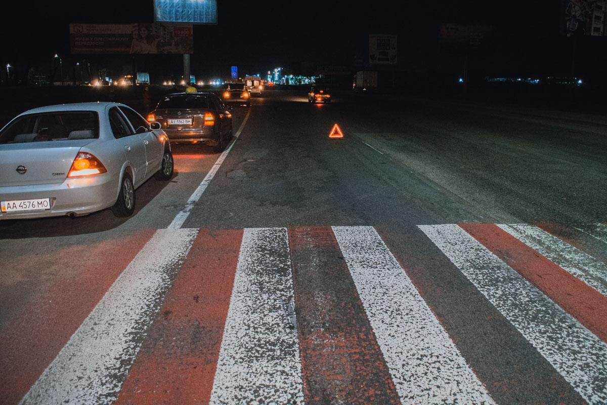 Пешеходный переход по которому шла женщина