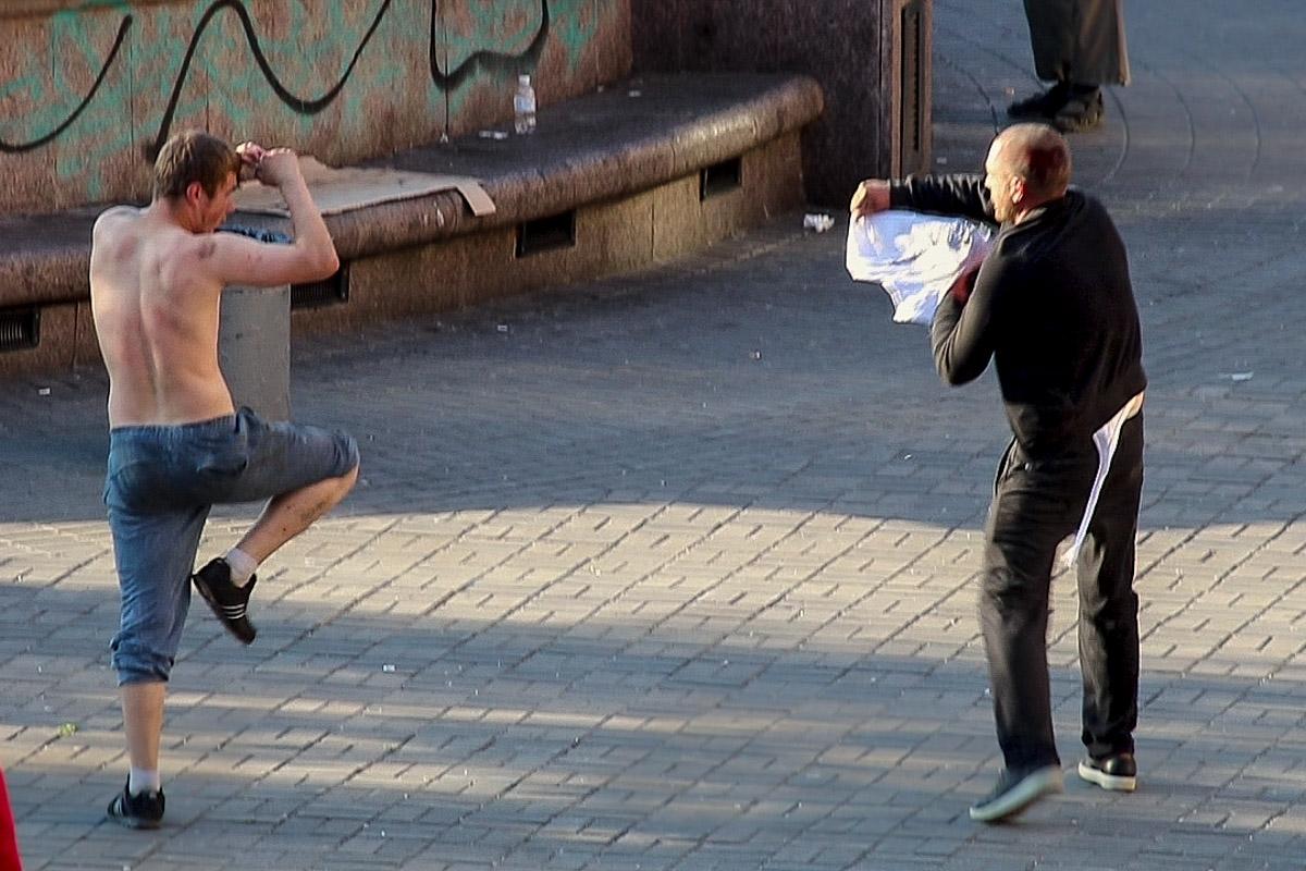 На Бессарабской площади в Киеве произошла драка