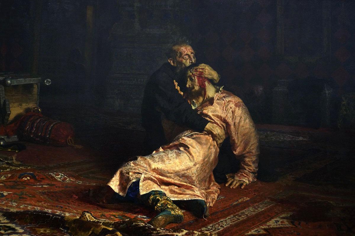 От рук злоумышленника пострадало знаменитое полотно Ильи Репина «Иван Грозный убивает своего сына»