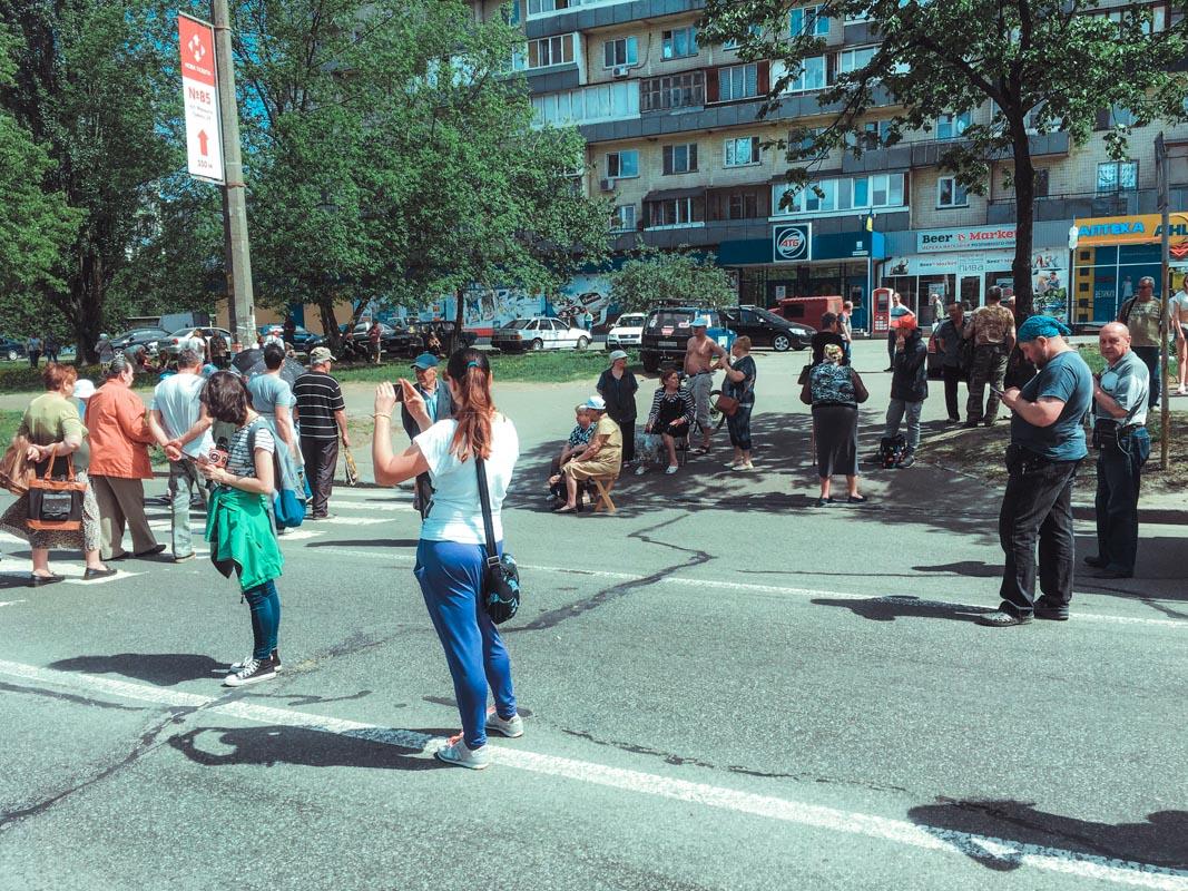 В четверг, 3 мая, в Киеве на Виноградаре проходит митинг