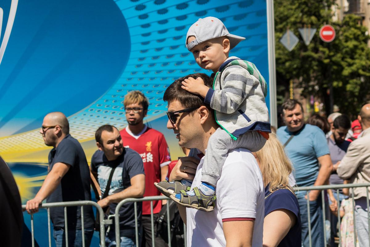 Многие приехали в Киев с детьми