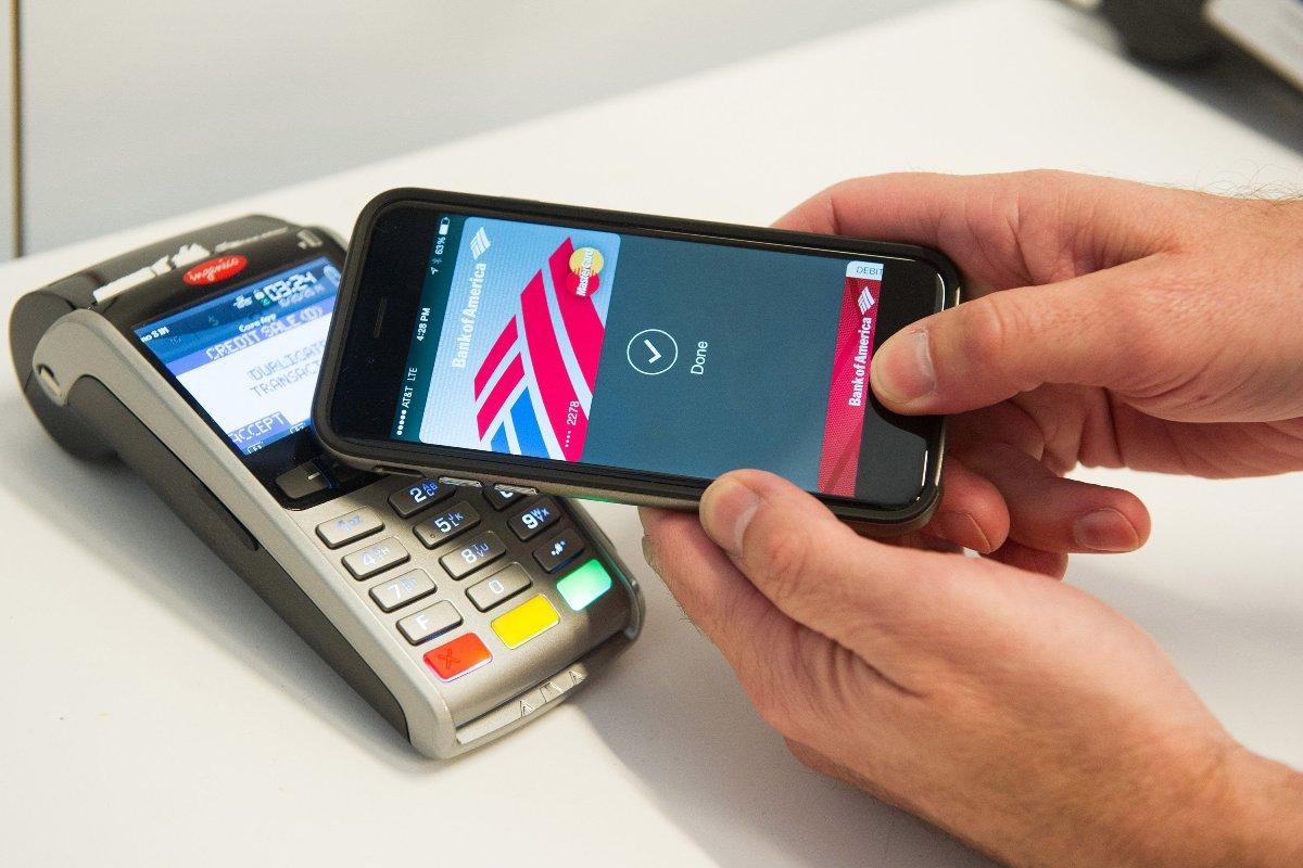 Apple Pay во время непосредственно расчета