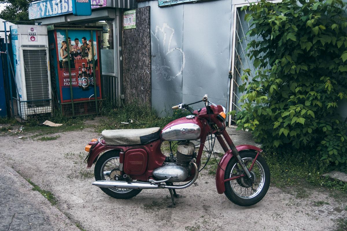 Мотоцикл, как и потерпевший, отделался легкими царапинами