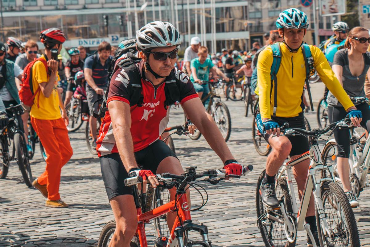 На Европейской произошло настоящее велосипедное нашествие