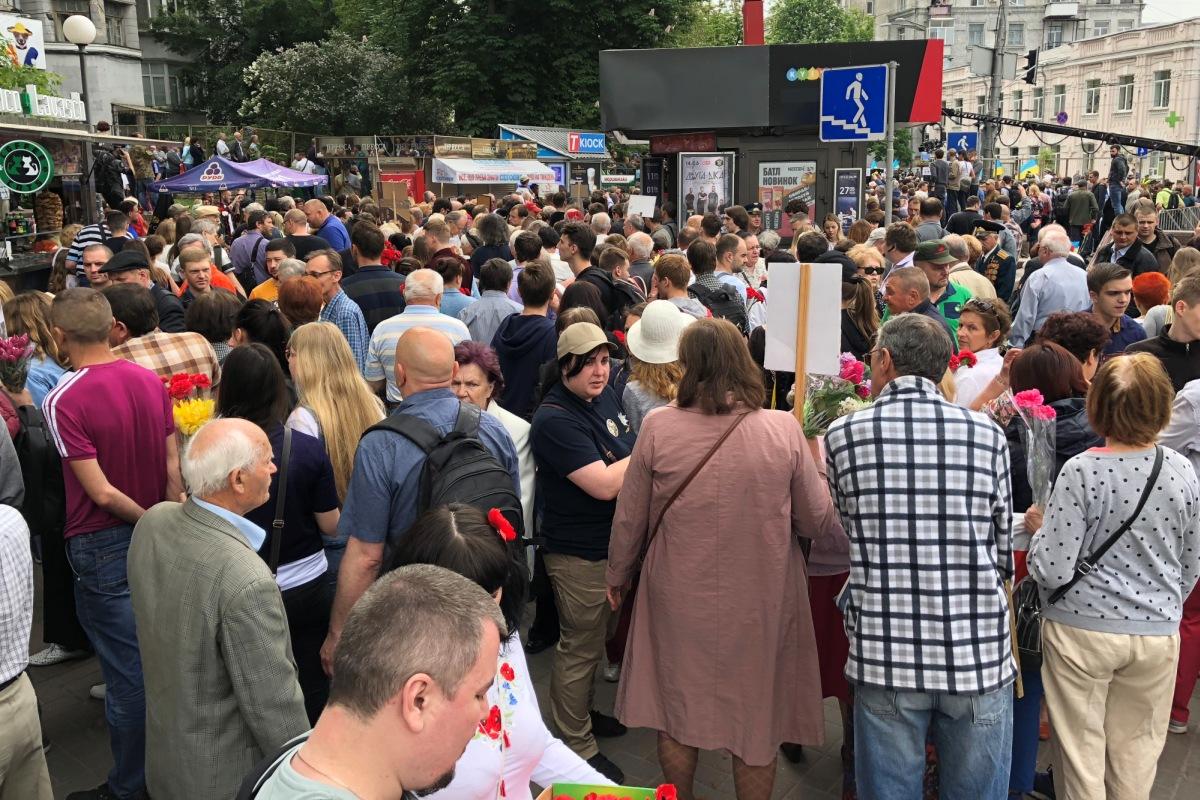 По состоянию на 10:00 на акцию пришли около тысячи человек