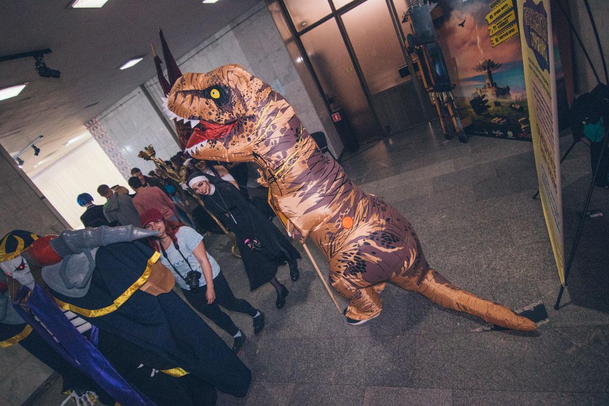 Динозавр Рекс посетил Киев