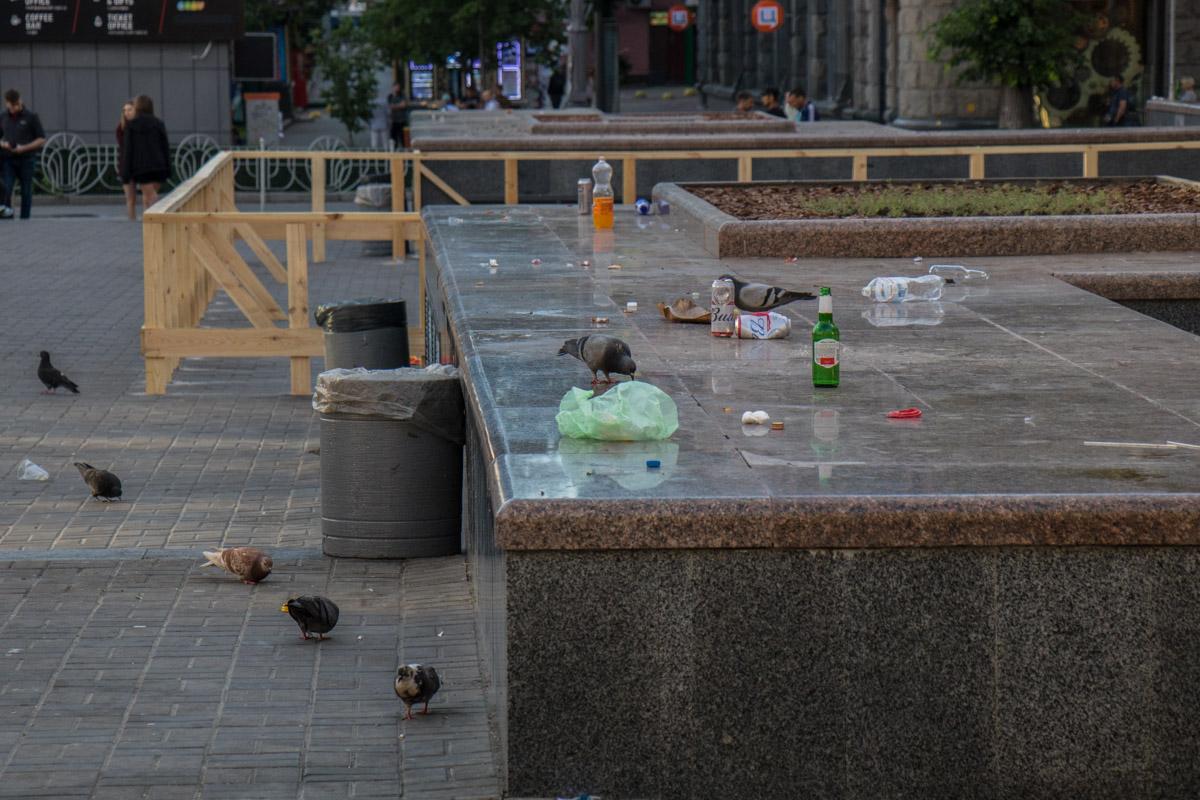 После чего на утро город практически вымер - улицы опустели