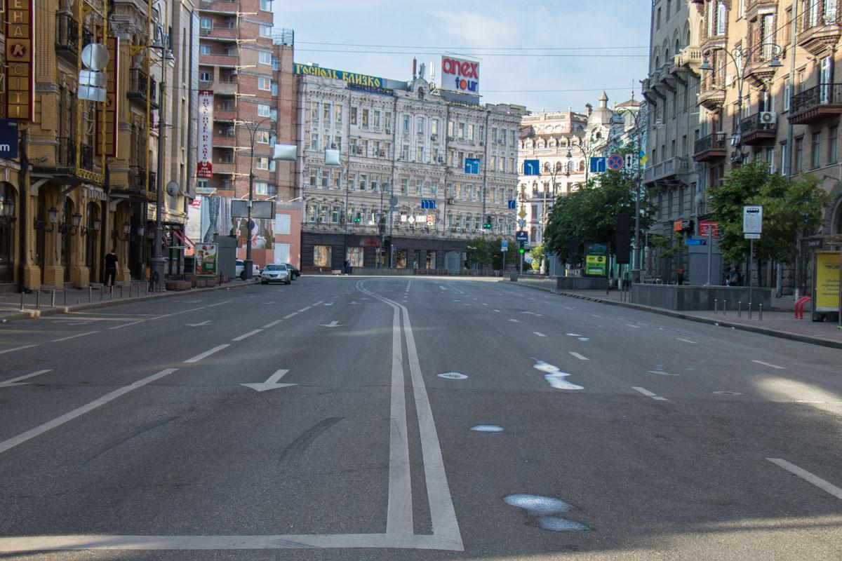 Утром 26 мая, в первый день финала Лиги чемпионов, улицы столицы опустели