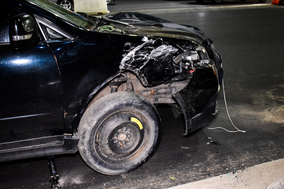Subaru влетел вRenault Megane