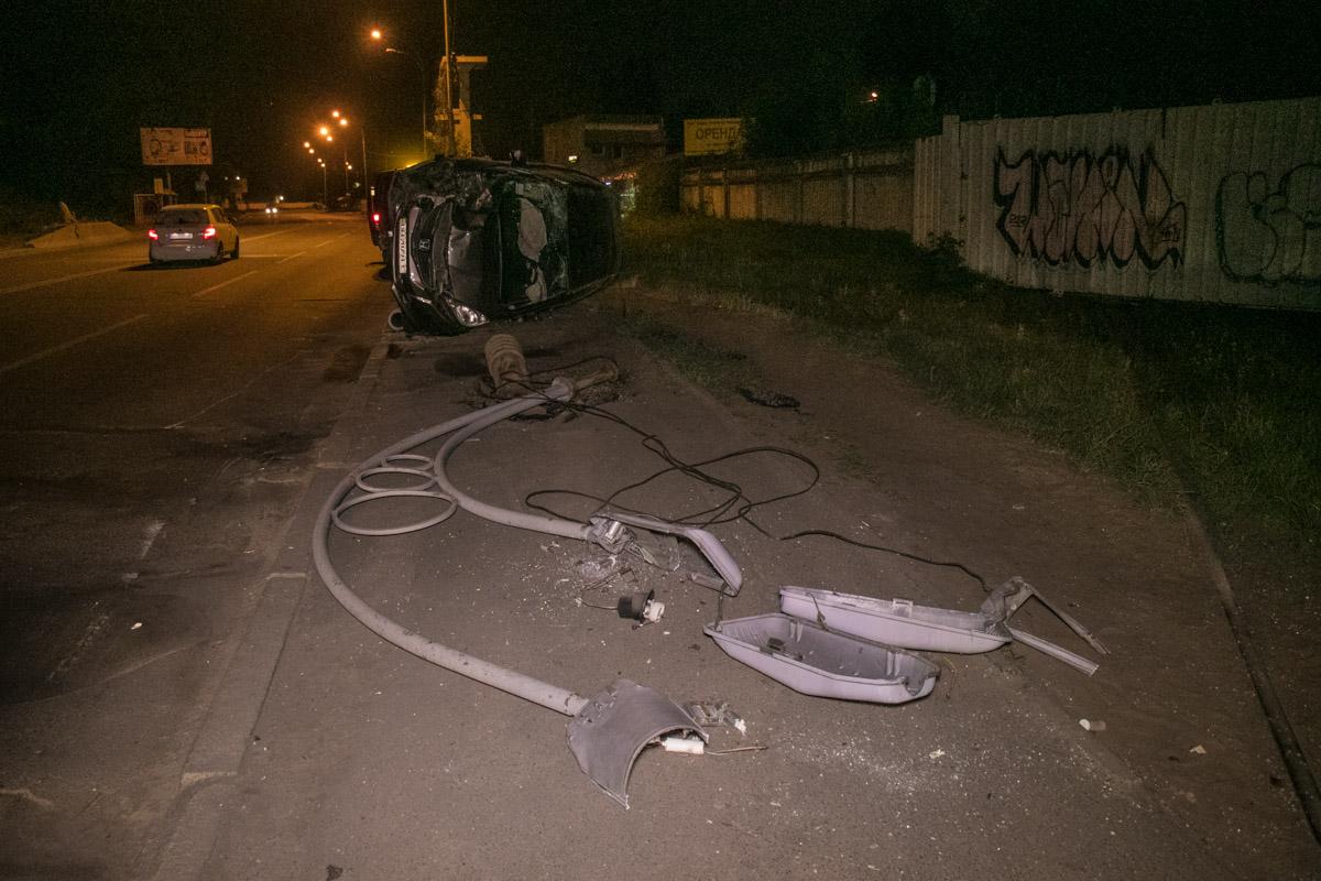 Авария произошла около 20:30 на Рыбальском полуострове