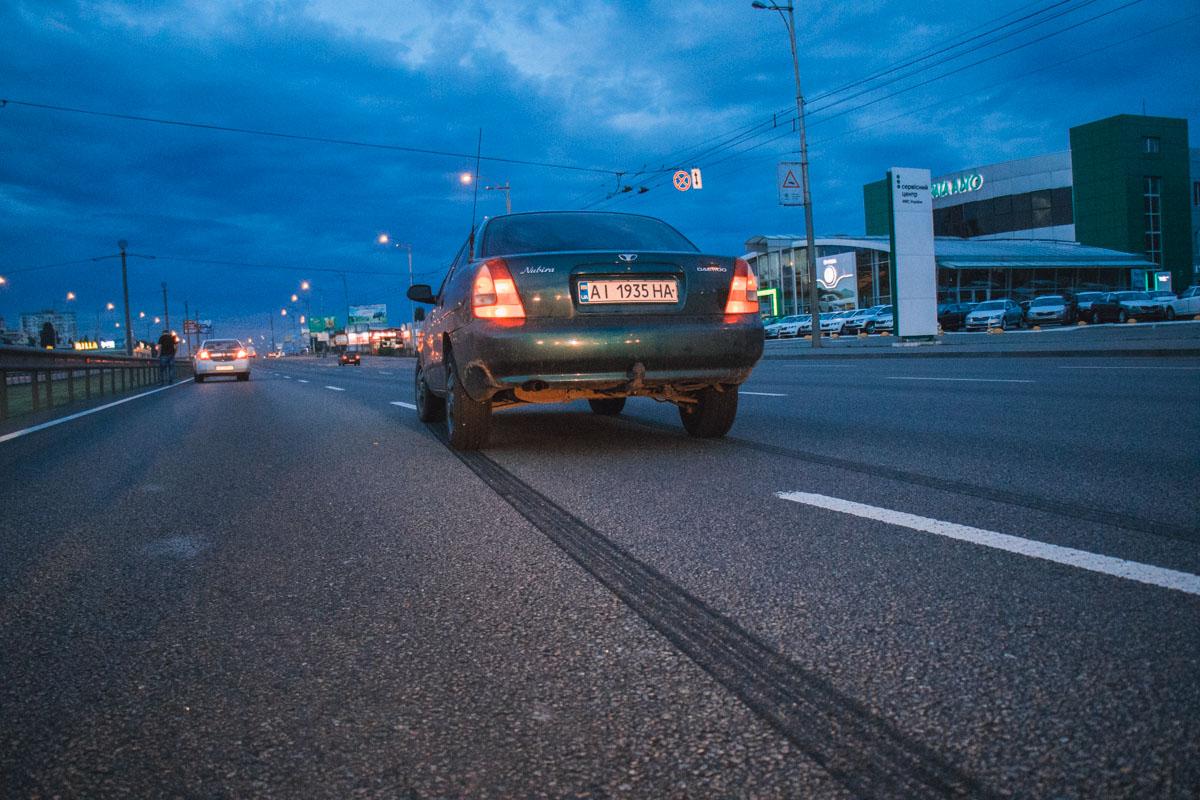 По рассказу водителя, он ехал на скорости приблизительно 70 километров в час