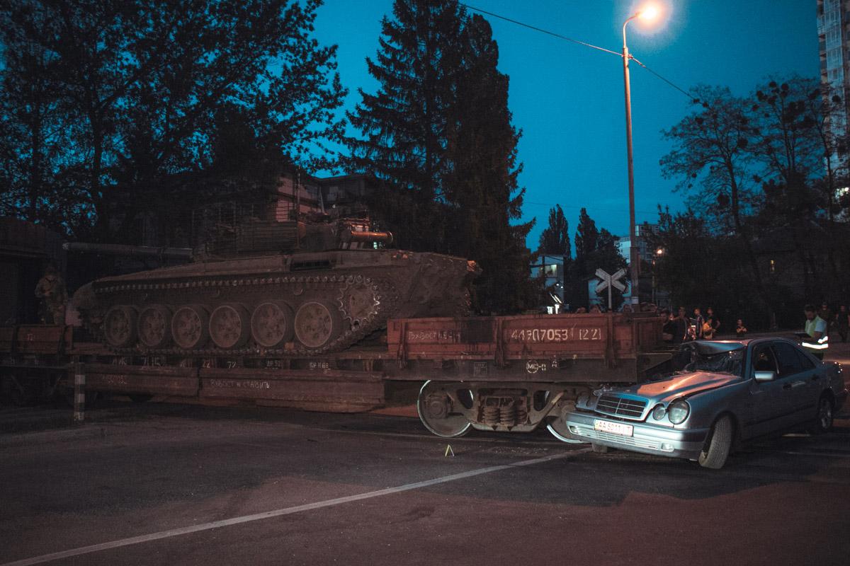 Из-за аварии движение по улице Бориспольской было затруднено