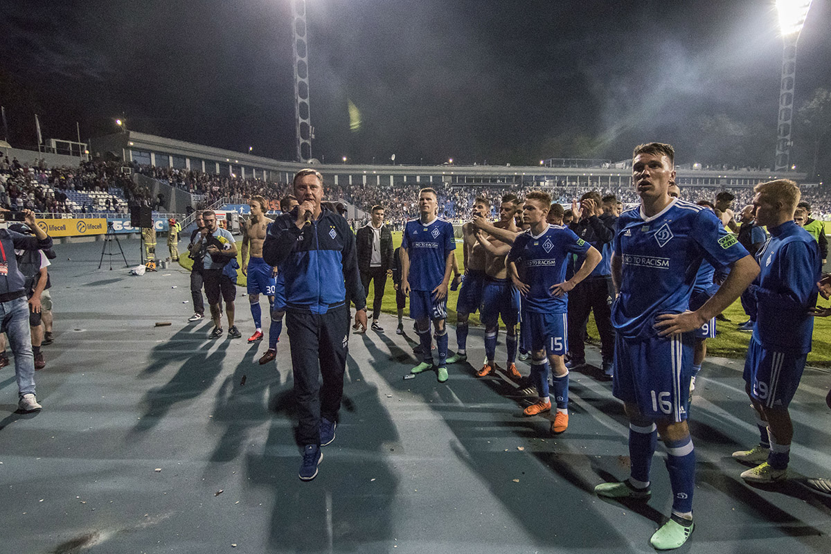 Команда и тренерский штаб киевской командыпоблагодарили всех за поддержку