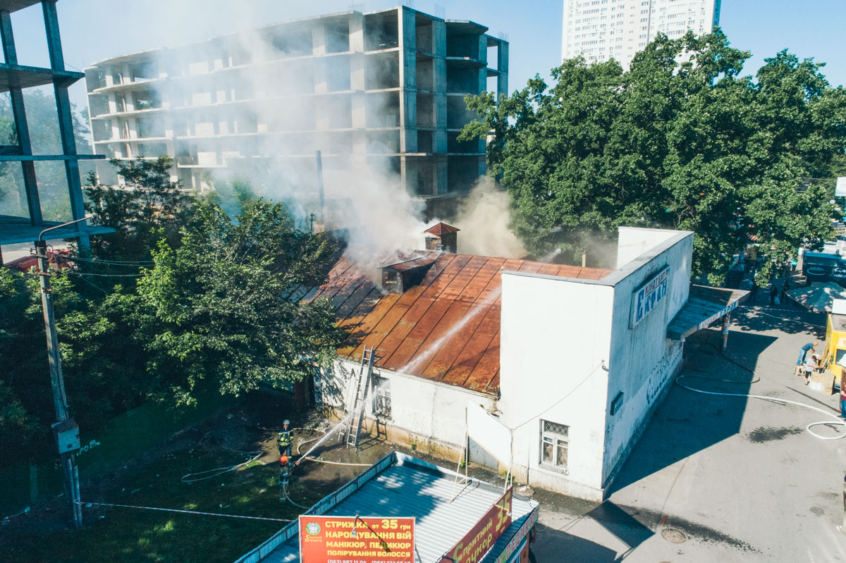 В понедельник, 28 мая, вздании бывшего кинотеатра «Экран»произошел пожар