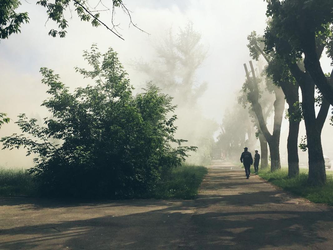 В дыму практически весь Отрадный