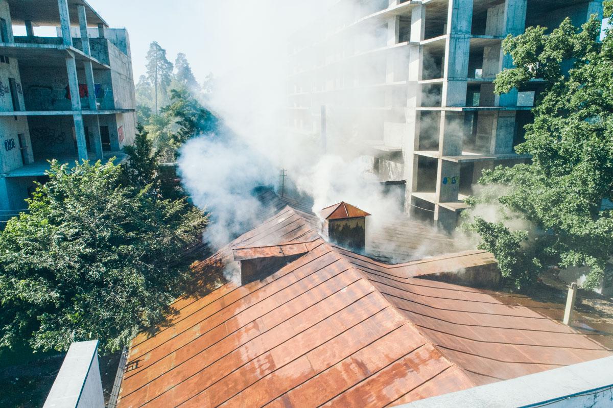 По словам очевидцев, это был поджог