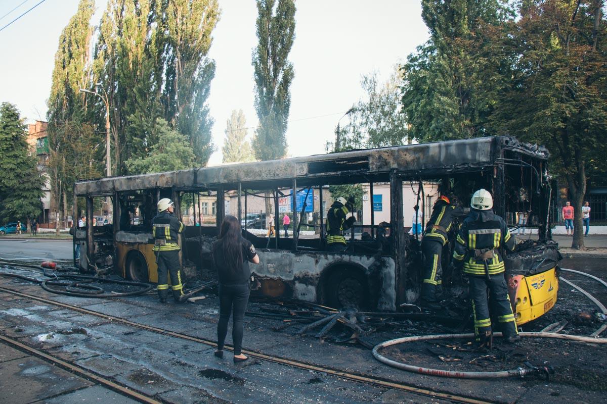 В результате возгорания никто не пострадал