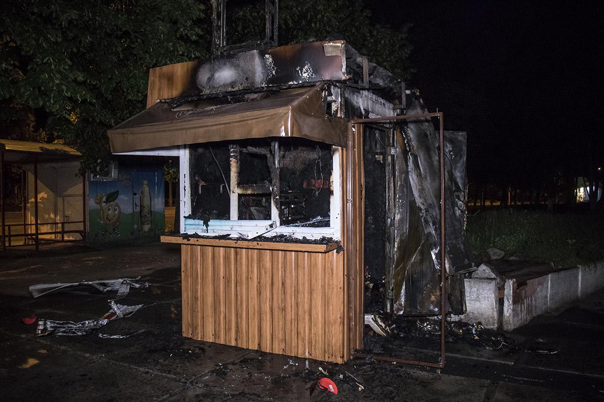 Возгорание в киоске началось около 02:00