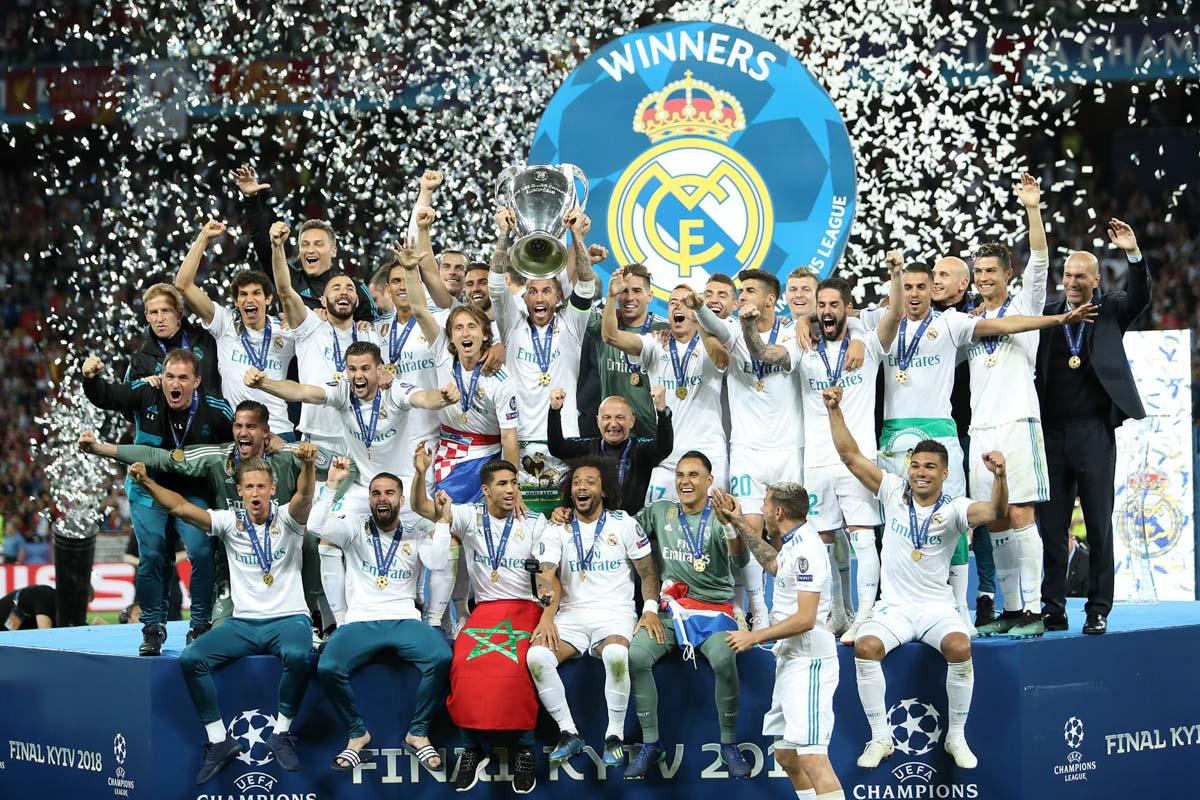 Мадридский клуб выигрывает Лигу чемпионов третий раз подряд