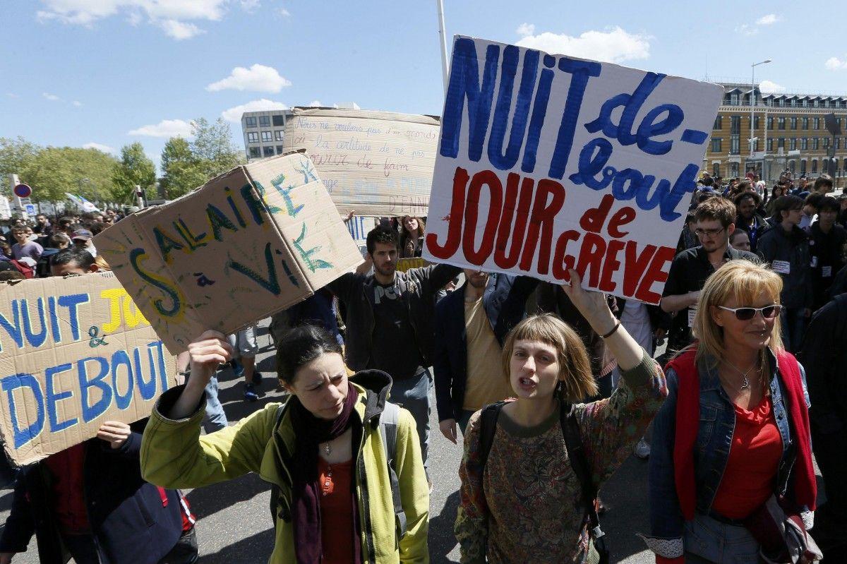 Во Франции прошли демонстрации противников реформ Макрона
