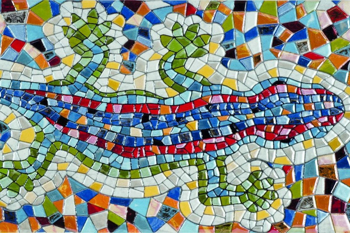 Картинка с мозаикой, открытки