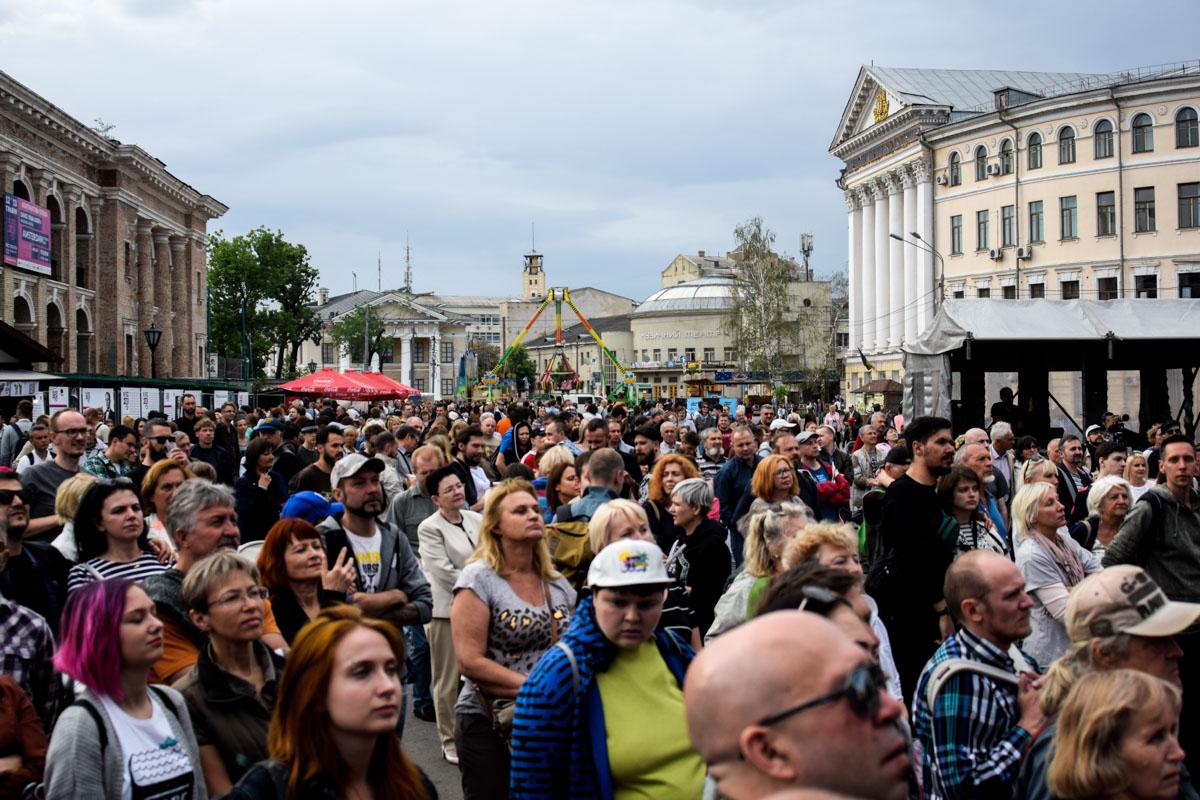 на Контрактовой площади стартовал первый в столице международный фестиваль Клезмерской музыки