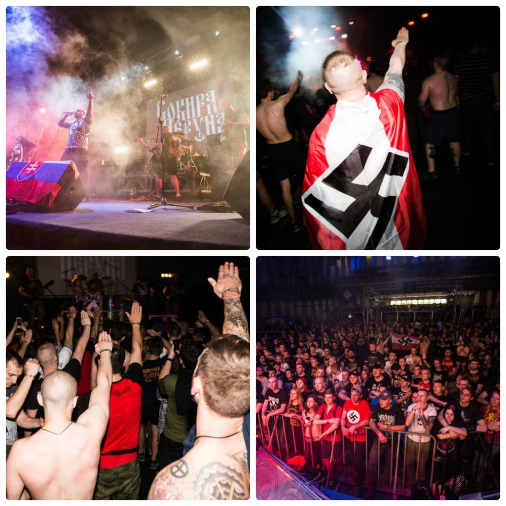 Фанаты слэмились под сценой с нацистской символикой. Фото Zaborona.com